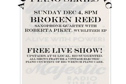 Sunday Sounds: Acoustic Electric Series feat. Broken Reed Saxophone Quartet w/ Roberta Piket